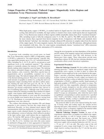 Unique Properties of Thermally Tailored Copper - Continuum ...
