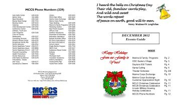 Happy Holidays From our Family to Yours! - Marine Corps Logistics ...