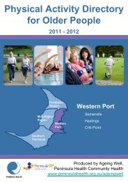 Physical Activity Directory for Older People - Peninsula GP Network