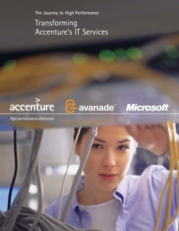 Transforming Accenture's IT Services