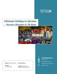 Ultimate Holiday in Ukraine – Across Ukraine in 10 ... - Active Ukraine