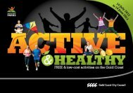 AcTIvE & HEALTHy HOLIdAy PrOgrAM - Gold Coast Parks