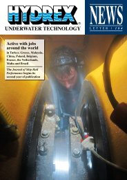 Active with jobs around the world - Hydrex Underwater Technology