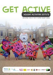 Holiday Activities 2011/12 - Guilsborough Cluster Extended Services
