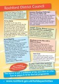 Rochford District Holiday Activities brochure - Rochford District Council - Page 4