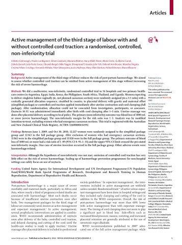 active management of labour pdf