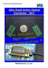 "Ultra Small Active Optical Connector ""BF4"" Ultra Small Active Optical ..."