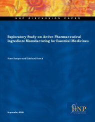 Exploratory Study on Active Pharmaceutical Ingredient ... - Unido