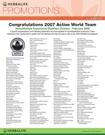 Congratulations 2007 Active World Team