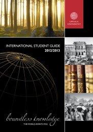 Uppsala Universitet – International student guide 2012/2013