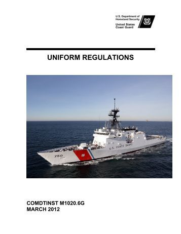 Coast Guard Uniform Regulations 45
