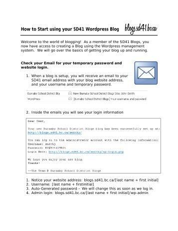 SD41 Blog Startup Guide