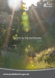 ACTIVE IN THE OUTDOORS - Peak District National Park Authority