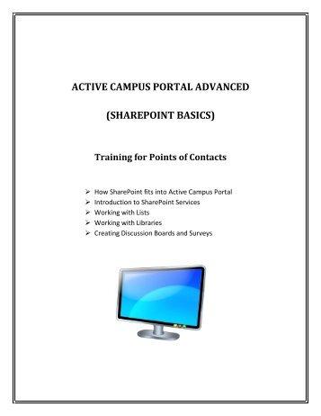 Active Campus Portal Advanced--SharePoint Basics - Kirkwood ...