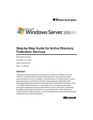 Step-by-Step Guide for Active Directory Federation Services