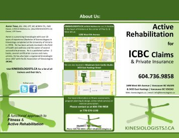 Active Rehabilitation ICBC Claims - Kinesiologists.ca