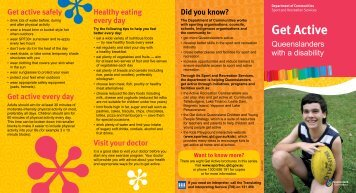 Get Active Queenslanders with a disability