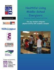 Healthful Living Middle-School Energizers - East Carolina University
