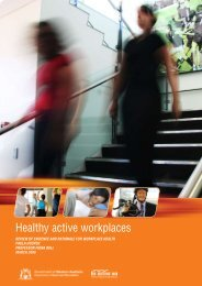 Healthy active workplaces - Department of Sport and Recreation