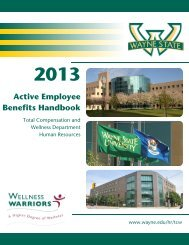 2013 Active Employee Benefits Handbook - Wayne State University