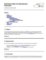 MyEclipse Web 2.0 Workbench Overview - Read