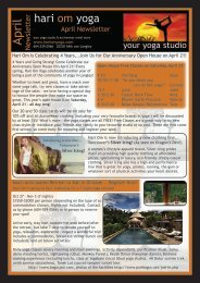 hari om yoga langley