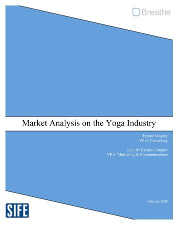 Market Analysis on the Yoga Industry