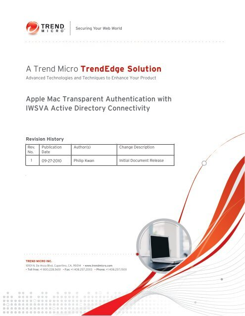 Apple Mac Transparent Authentication with IWSVA Active Directory