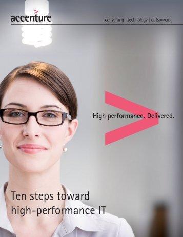 Ten steps toward high-performance IT