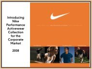 Introducing Nike Performance Activewear ... - Cardi Associates