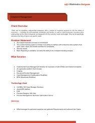 Case Study - Mahindra Satyam