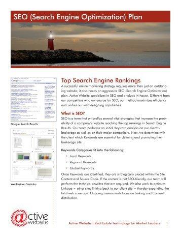 SEO (Search Engine Optimization) Plan - Active Website