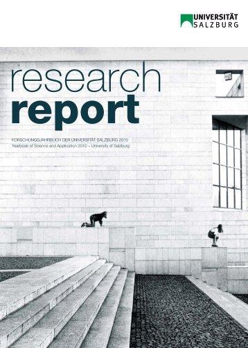 Forschungsjahrbuch der universität salzburg 2010 Yearbook of ...
