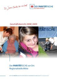 paritätische - Der PARITÄTISCHE Sachsen Anhalt