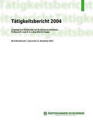 Tätigkeitsbericht 2004 - Ärztekammer Nordrhein