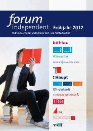 Frühjahr 2012 - forum independent