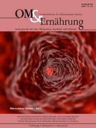 Nitrosativer Stress – Teil I - Dr. med. univ. Alois Dengg