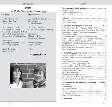 Neue Selbsthilfegruppen - KIBIS Herzogtum Lauenburg KIBIS ...