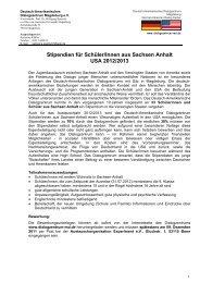 INTERNATIONAL HIGH SCHOOL PROGRAM 2012/2013 - Deutsch ...