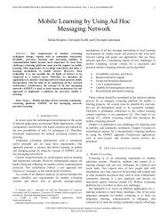 Mobile Learning by Using Ad Hoc Messaging Network