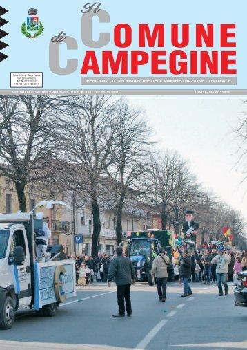 Mese di marzo 2008 - Comune di Campegine