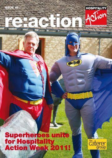 Superheroes unite for Hospitality Action Week 2011! Superheroes ...
