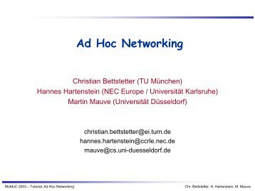 Ad Hoc Networking - DSN
