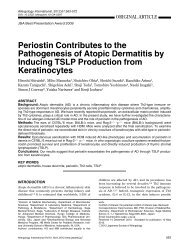 Periostin Contributes to the Pathogenesis of Atopic Dermatitis by ...