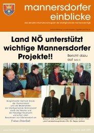 Rechnungsabschluss 2008 - Stadtgemeinde Mannersdorf