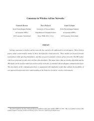 Consensus in Wireless Ad hoc Networks - Infoscience - EPFL