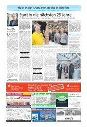Start in die nächsten 25 Jahre - Haller Tagblatt