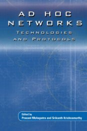 Ad Hoc Networks : Technologies and Protocols - University of ...