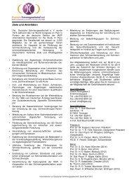 Infoblatt Stand April 2012 - Schmerz