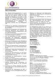 Infoblatt Stand Oktober 2012 - 11.10.12 - Schmerz